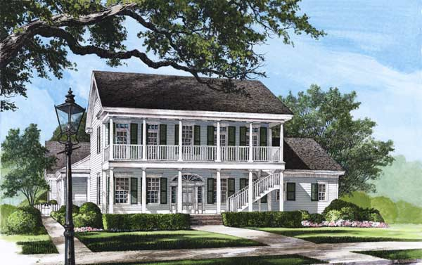 Plantation Style Home Design Plan: 57-123