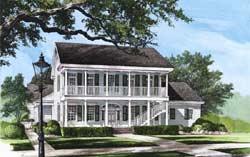Plantation Style Home Design 57-123