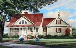 Cape-Cod Style Home Design Plan: 57-124