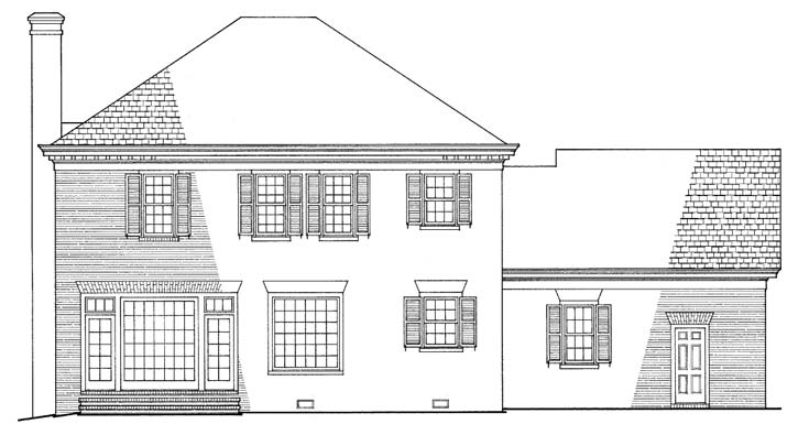 Rear Elevation Plan: 57-127