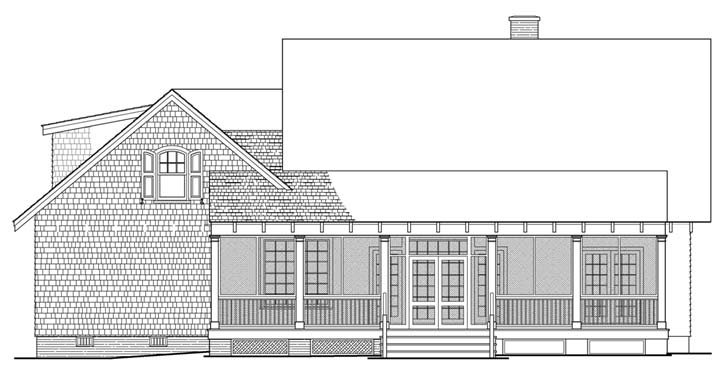 Rear Elevation Plan: 57-129