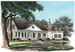 Southern Style Floor Plans Plan: 57-130