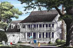 Plantation Style Floor Plans Plan: 57-131