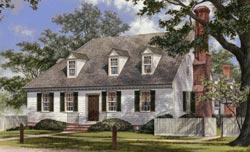 Cape-Cod Style Home Design Plan: 57-132