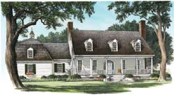 French-Country Style Home Design Plan: 57-133