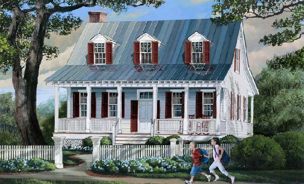 Country Style House Plans Plan: 57-140