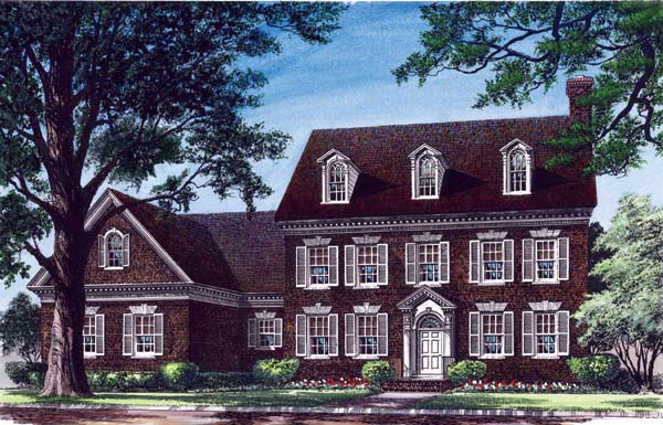 Colonial Style Floor Plans Plan: 57-141