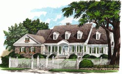 Farm Style Home Design Plan: 57-142