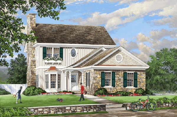 Cape-cod Style Home Design Plan: 57-143