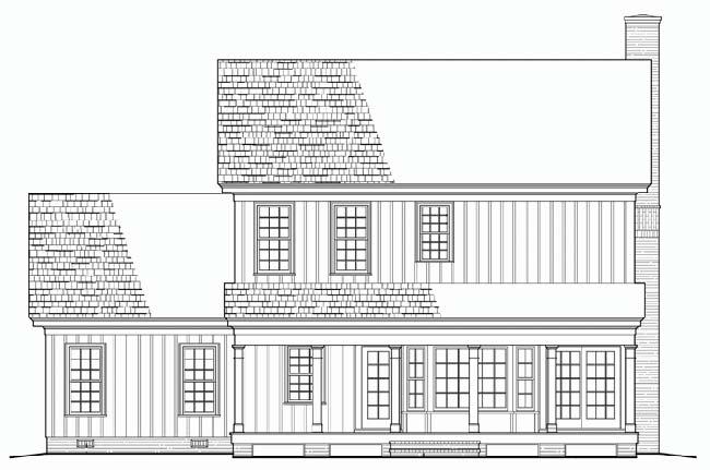 Rear Elevation Plan: 57-143