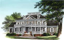 Plantation Style Home Design Plan: 57-144