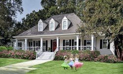 Country Style Home Design Plan: 57-145