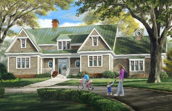 Cape-cod Style Floor Plans Plan: 57-148