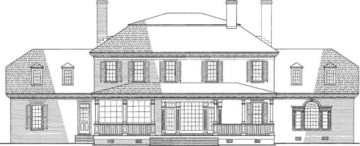 Rear Elevation Plan: 57-150