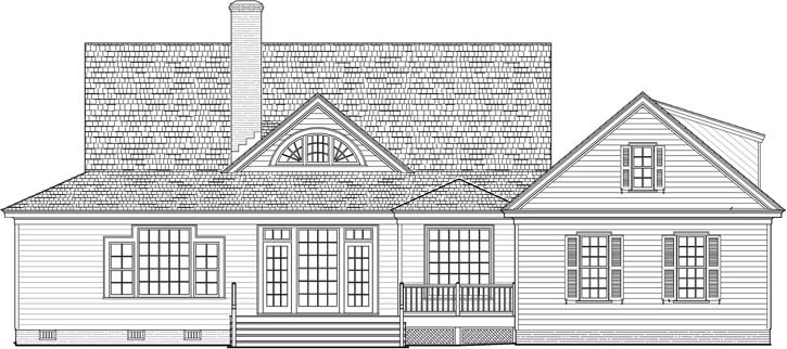 Rear Elevation Plan: 57-158