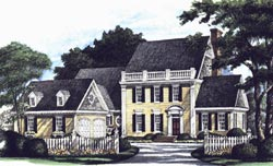 French-Country Style House Plans Plan: 57-163