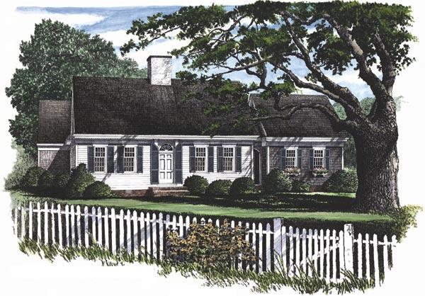 Cape-cod Style Home Design Plan: 57-164