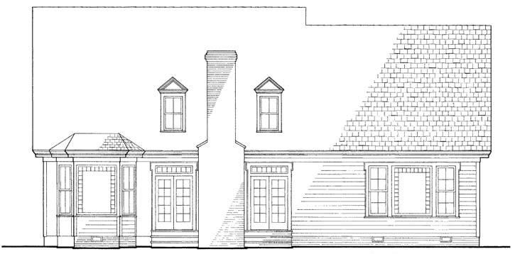 Rear Elevation Plan: 57-165
