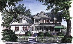 Victorian Style Home Design Plan: 57-165