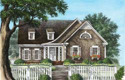 Cottage Style Home Design Plan: 57-166