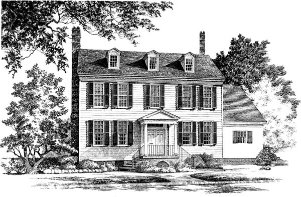 Colonial Style House Plans Plan: 57-167