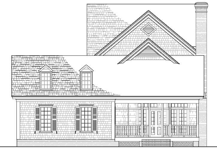 Rear Elevation Plan: 57-172