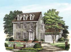 Colonial Style Floor Plans Plan: 57-172