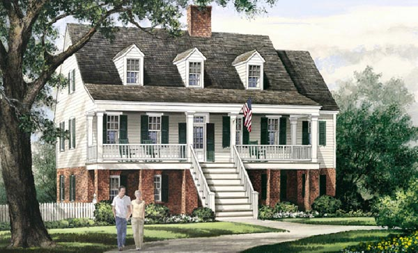 Southern Style Floor Plans Plan: 57-173