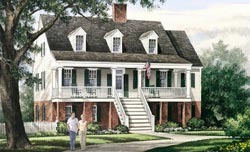 Southern Style Home Design Plan: 57-173
