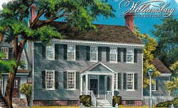 Southern-Colonial Style Home Design Plan: 57-175