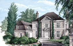French-Country Style Floor Plans Plan: 57-176