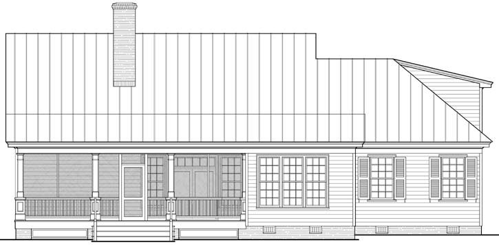 Rear Elevation Plan: 57-177