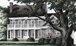 Southern-Colonial Style House Plans Plan: 57-178