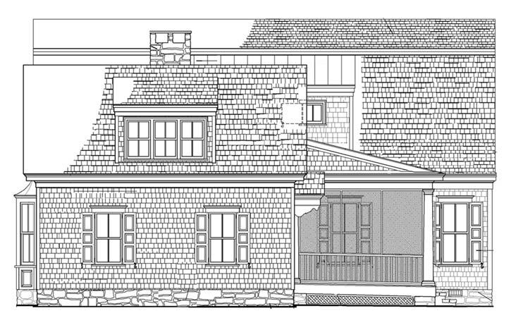Rear Elevation Plan: 57-179