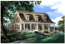 Cape-Cod Style Floor Plans Plan: 57-179