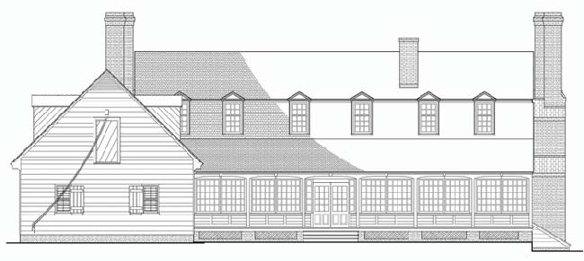 Rear Elevation Plan: 57-182