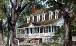 Southern Style Home Design Plan: 57-182