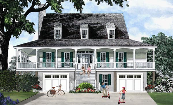 Coastal Style House Plans Plan: 57-183