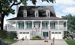 Coastal Style House Plans Plan: 57-183