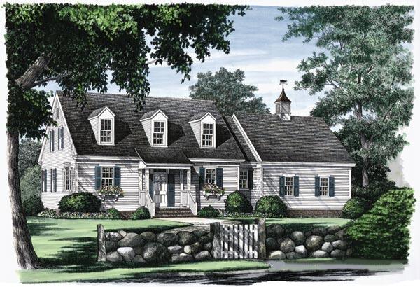 Cape-cod Style Home Design Plan: 57-187