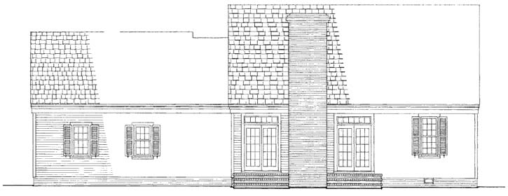 Rear Elevation Plan: 57-187