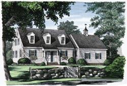 Cape-Cod Style Floor Plans Plan: 57-187