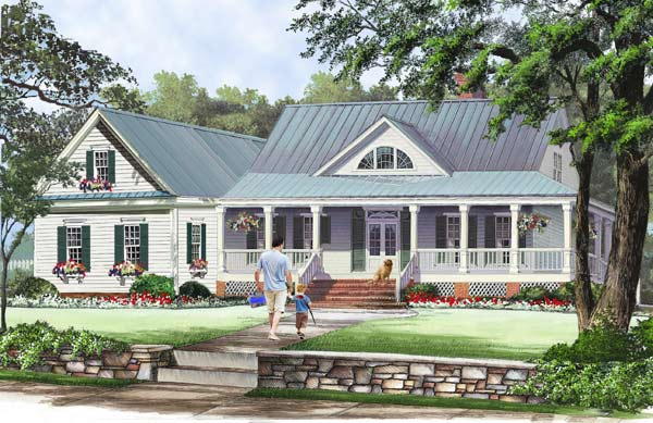 Country Style House Plans Plan: 57-188