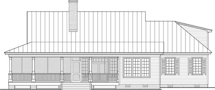 Rear Elevation Plan: 57-188