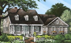 Cape-Cod Style Floor Plans Plan: 57-190