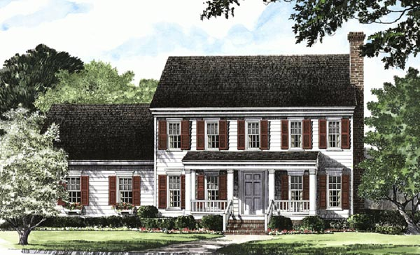 Early-American Style House Plans Plan: 57-191