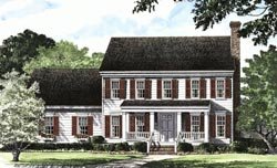 Early-American Style Floor Plans Plan: 57-191