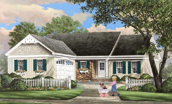 Cottage Style Home Design Plan: 57-193
