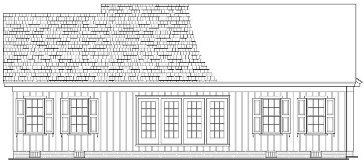 Rear Elevation Plan: 57-193