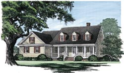 Country Style Floor Plans Plan: 57-198
